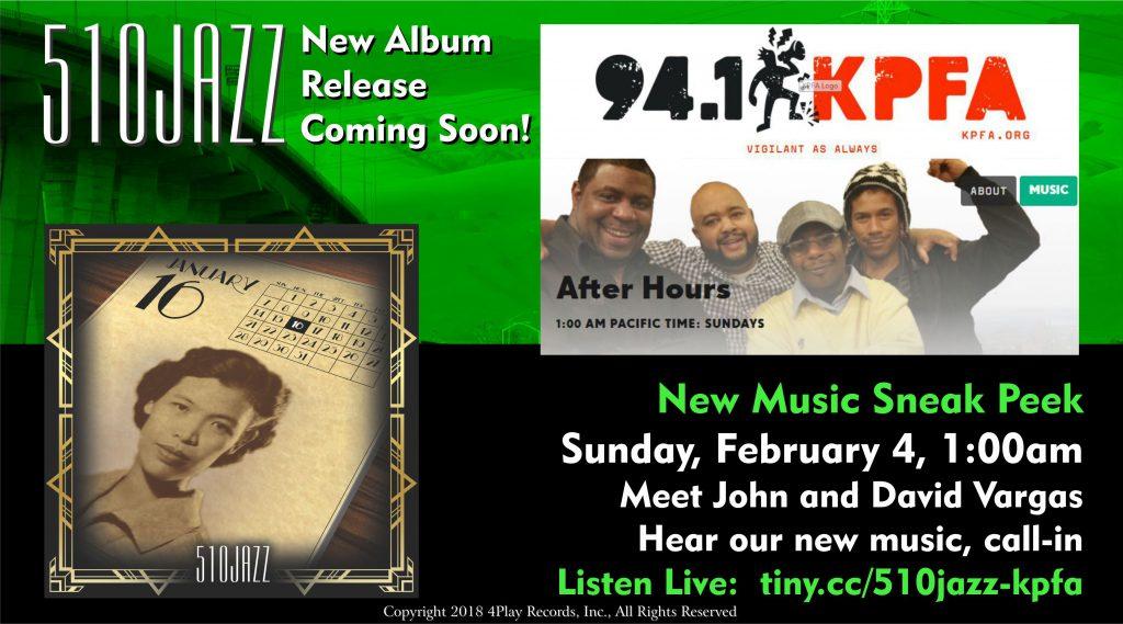510JAZZ live interview on KPFA 94.1 FM