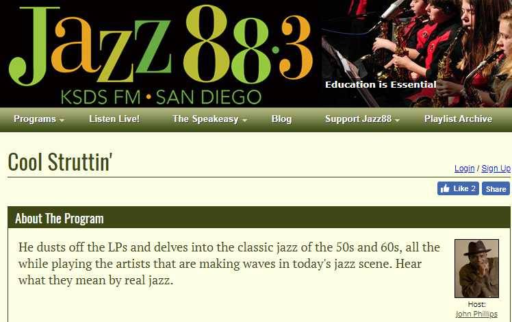 510JAZZ On KSDS Jazz 88.3 FM in San Deigo, CA