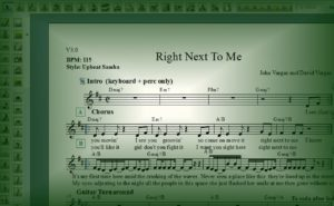 """Right Next To Me"" composed by John and David Vargas"