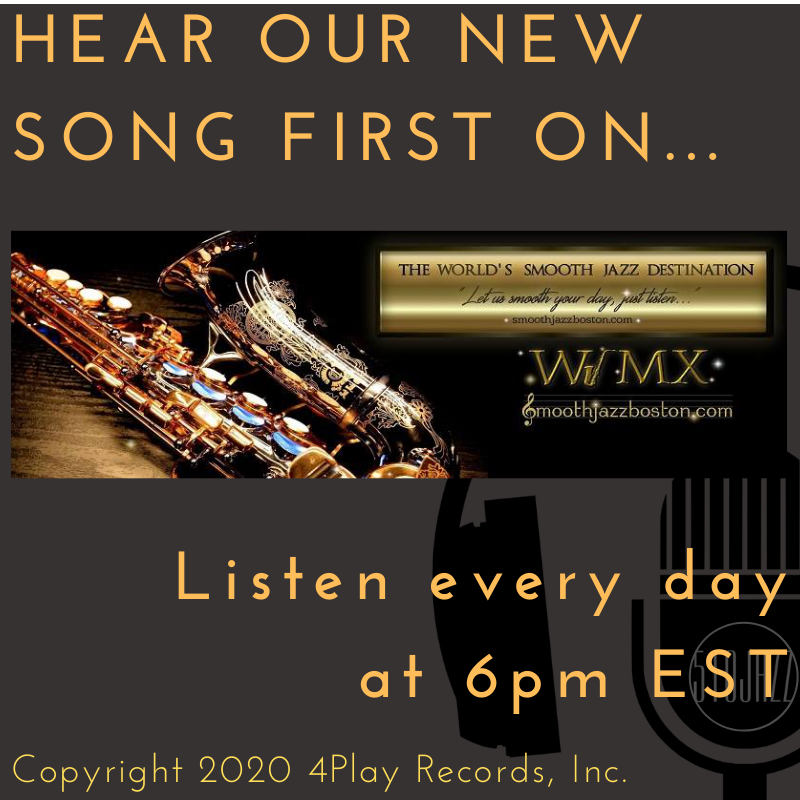 Hear our newest song on WJMX Smooth Jazz Global Radio