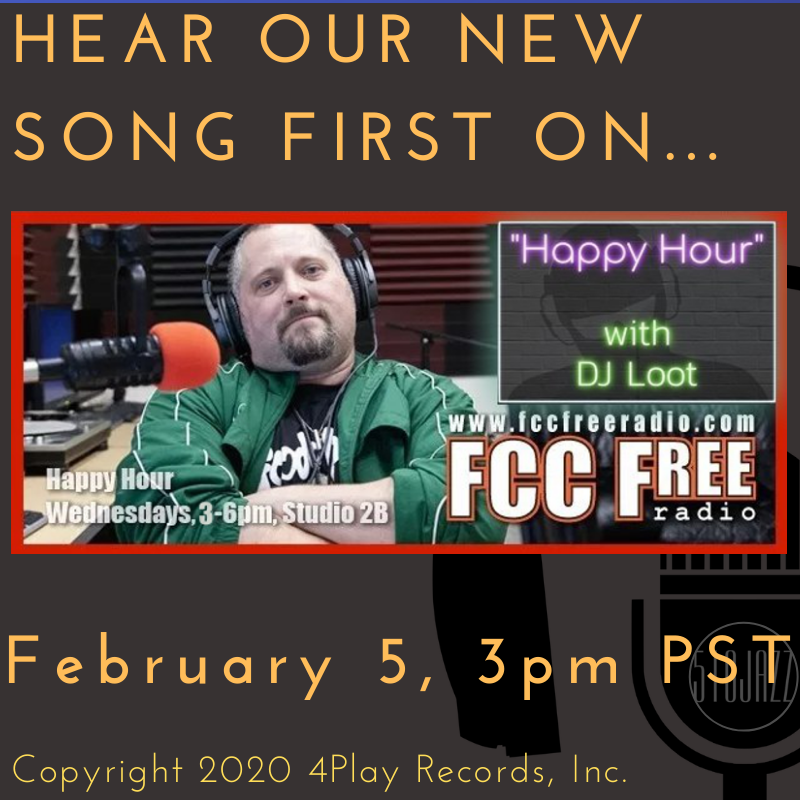 Hear our new song TODAY on FCC Free Radio