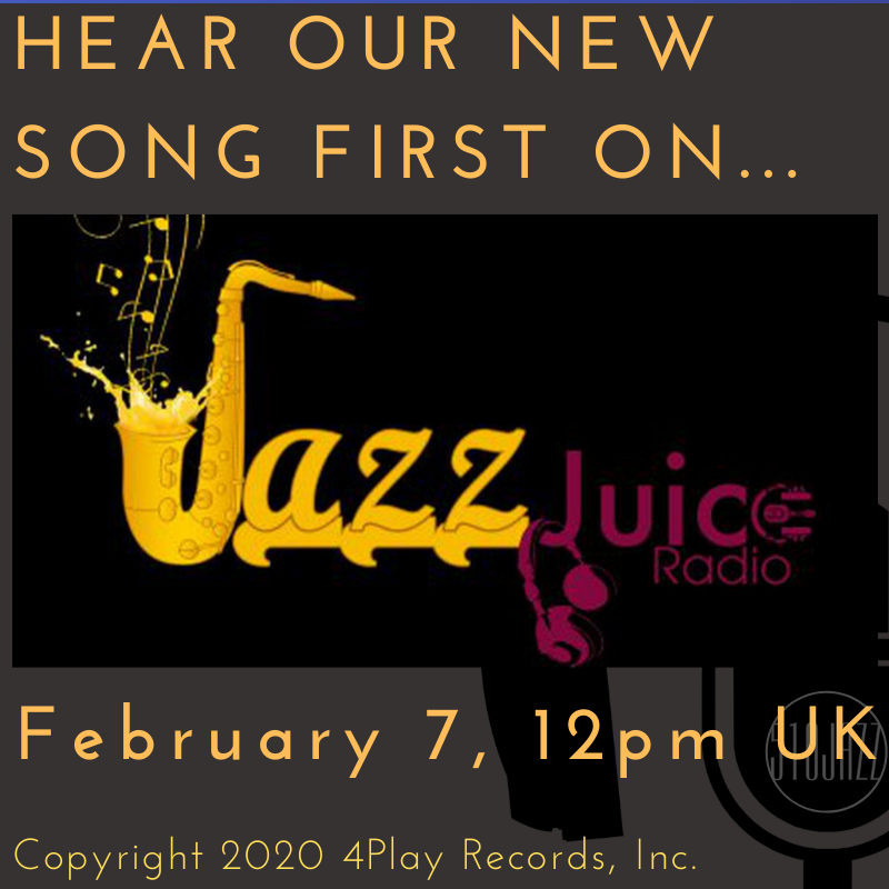 Hear our new song TODAY on Jazz Juice Radio